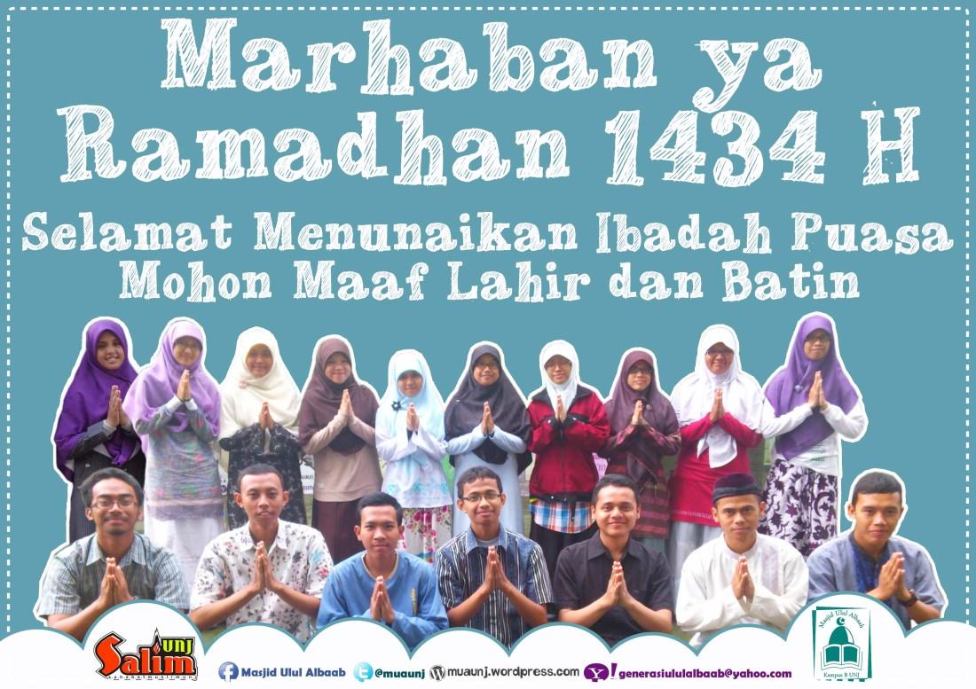 Marhaban Ya Ramadhan 1434 H